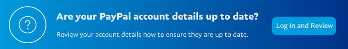 are your Paypal account details up to date?