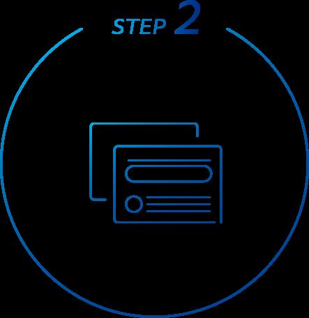 STEP 2 本人確認手続・初期設定を見る