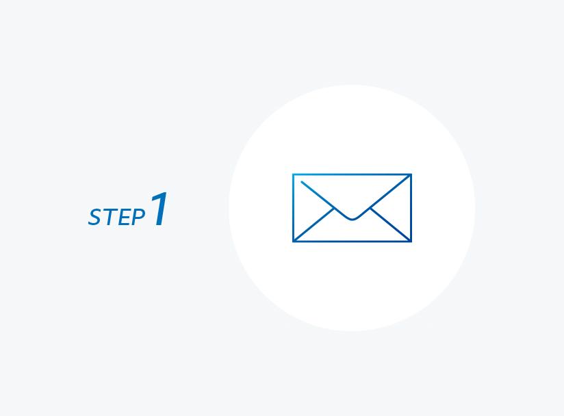STEP 1 メールアドレスの確認