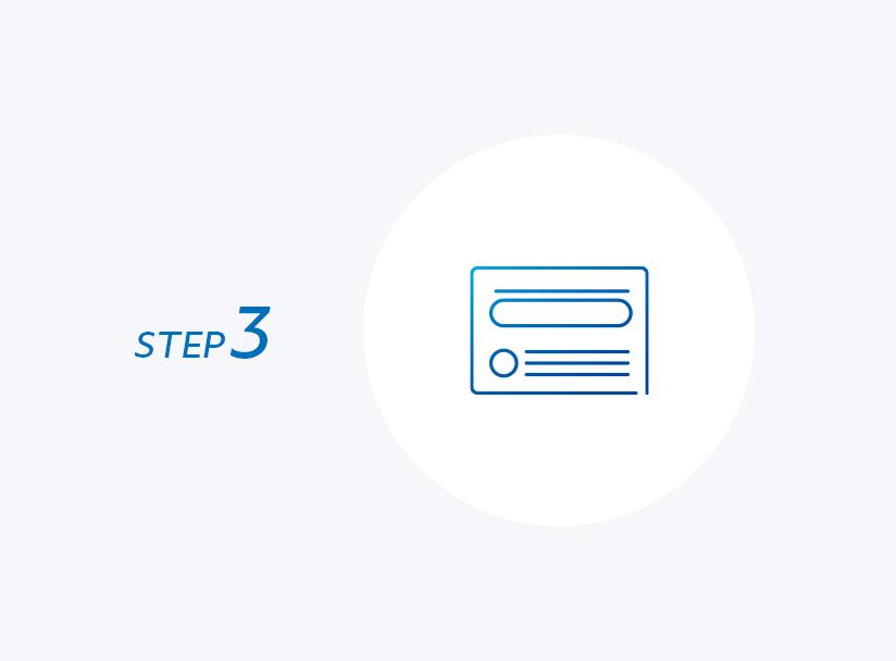 STEP 3 本人確認手続き