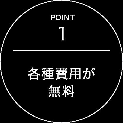 point1 各種費用が無料