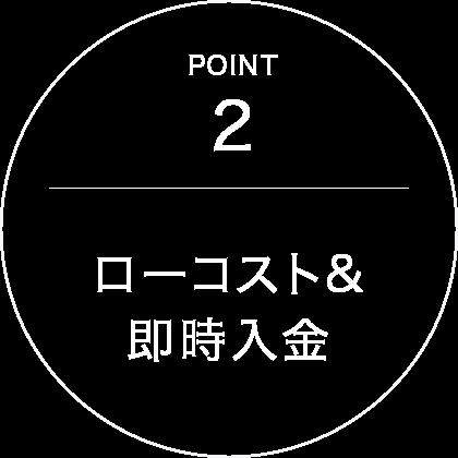 point2 ローコスト&即時入金