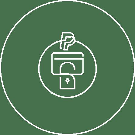 支払い情報をペイパルが保護するので安心。