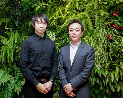 左:DMM.comの松本CTO、右:ペイパルの瓶子カントリーマネージャー