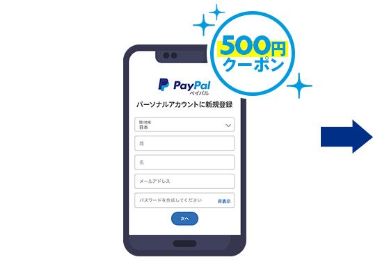 STEP 1 パーソナル(個人)アカウントに無料新規登録 500円クーポンをプレゼント!