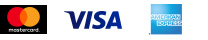 Master Card, VISA, American Express
