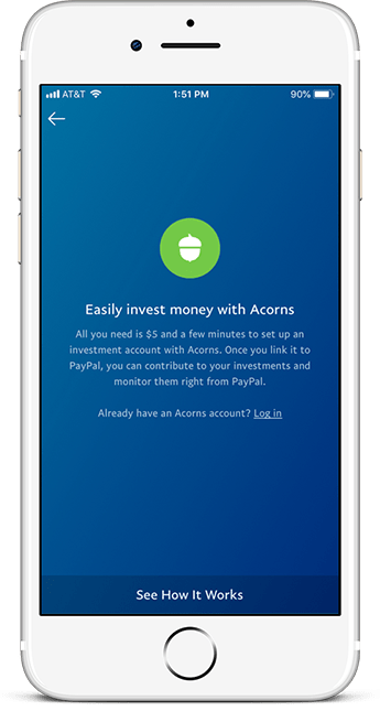 Invest Online with Acorns by Using Your PayPal Account