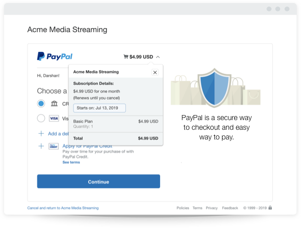 Need subscription services? PayPal Subscription Payments