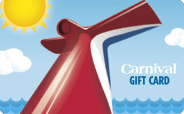 $100 Carnival Cruise Lines Gift Card For $90