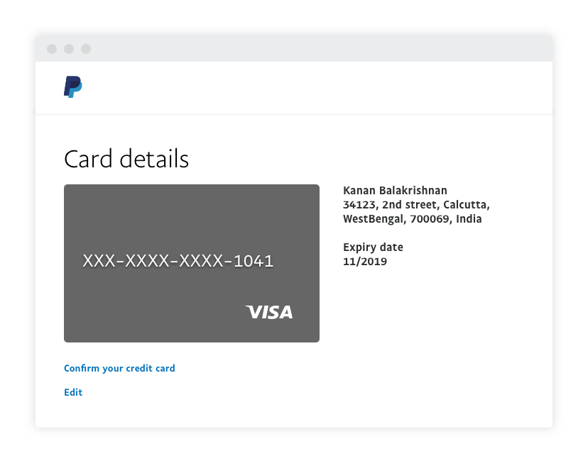 PayPal Guide] How to Link a Credit or Debit Card - PayPal India