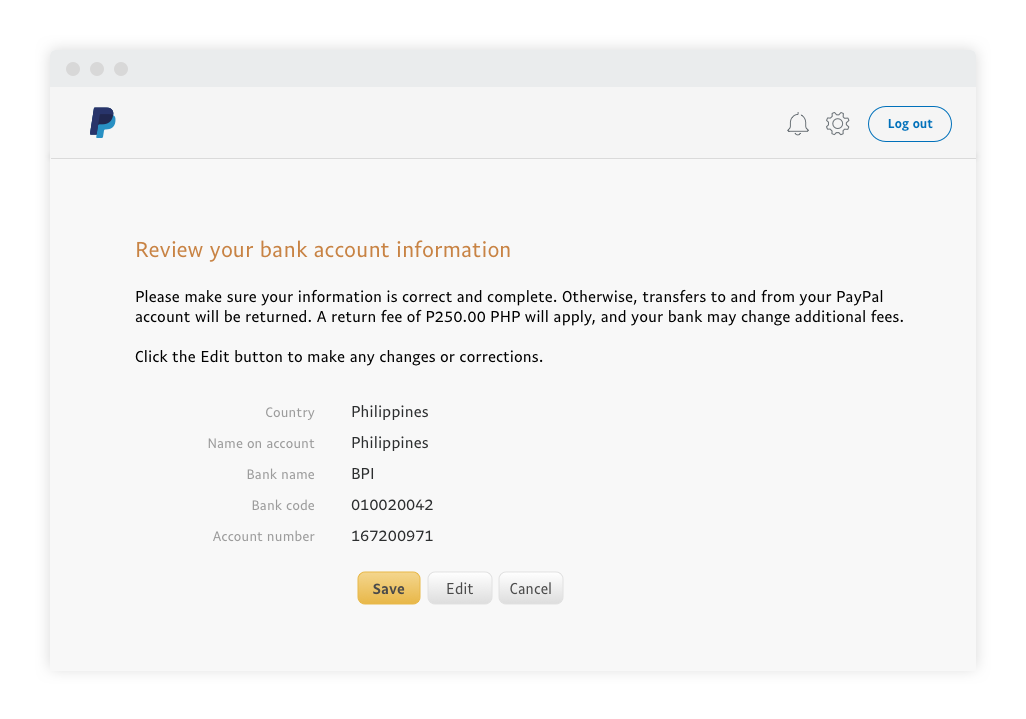 What Is My Paypal Email >> Paypal Guide How To Link A Bank Account Paypal Philippines