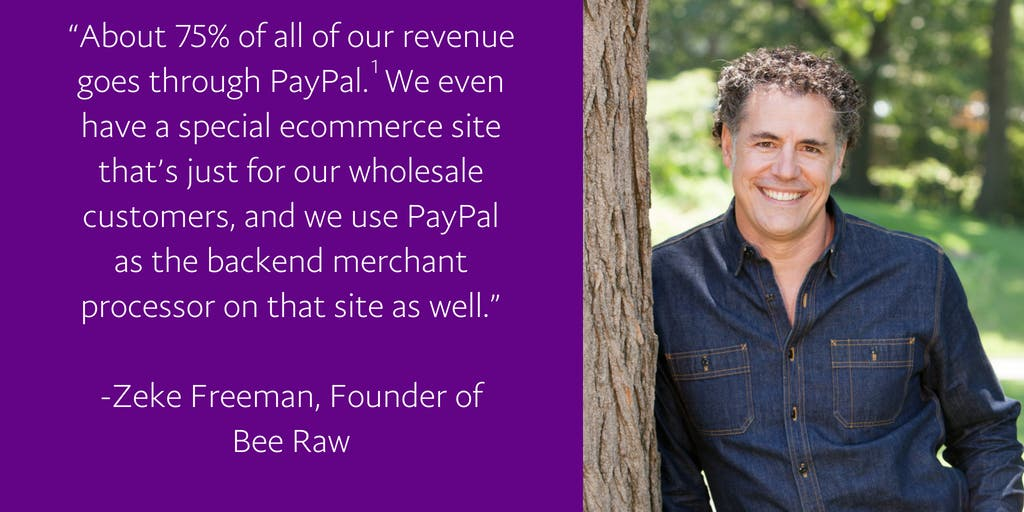bee raw chooses paypal to accept payments from every customer channel