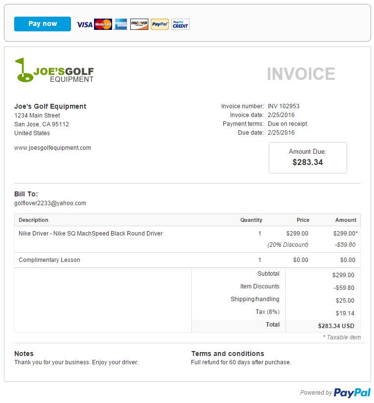 Small Business Invoicing How To Create Online Invoices PayPal US - How to create an invoice paypal