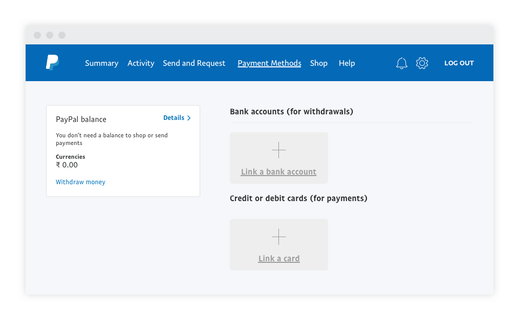 Link payment method