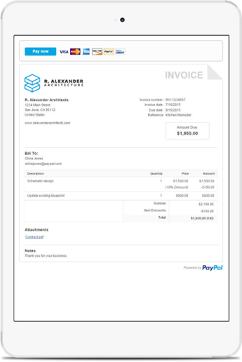 Get paid without a website paypal india for How to get an invoice from paypal