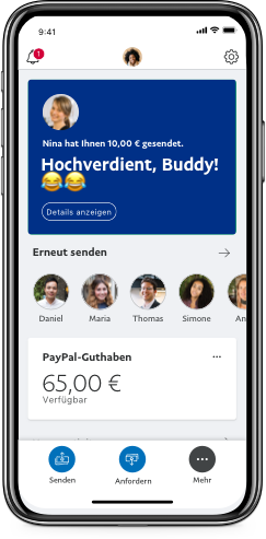 Paypal Geld Einzahlen überweisung