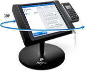 point of sale stands lockable tablet enclosure with integrated card reader holder more on point of sale stands - Paypal Credit Card Swiper