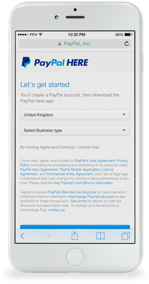 PayPal Here Guide - PayPal Here Account | PayPal UK