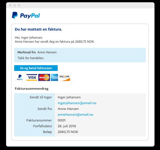 cc107903 Få betalt enkelt og raskt med fakturering – PayPal bedriftsløsninger
