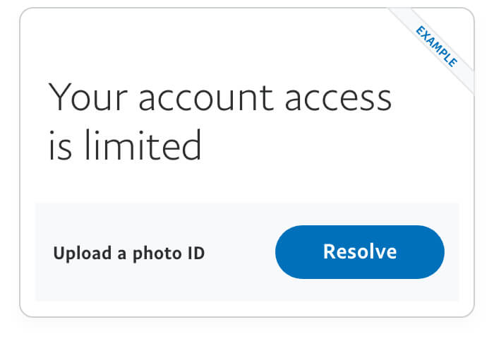 Account limitation access image example