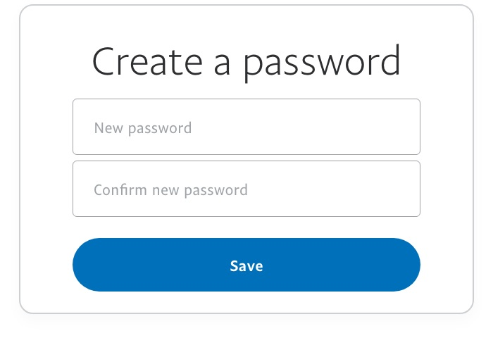 Create new password image example