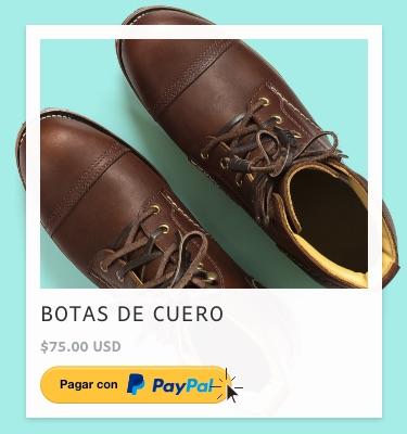 Pagar botas de cuero con PayPal