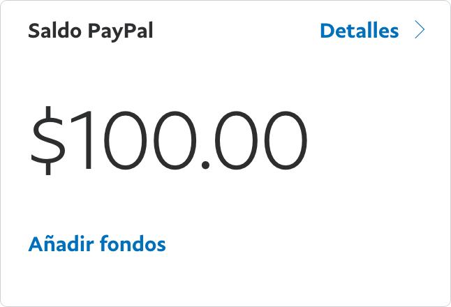 Saldo PayPal $100