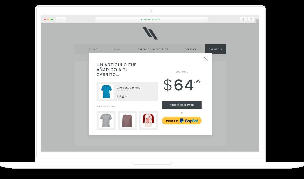 Compra por internet con PayPal en escritorio y celular