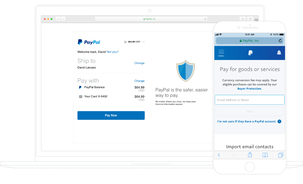 How PayPal works on desktop and mobile