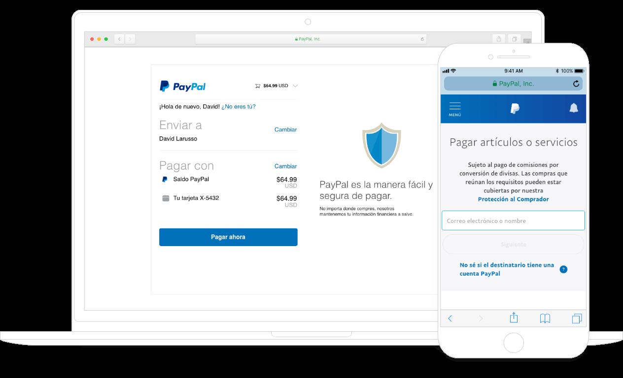 Cómo funciona PayPal en escritorio y celular