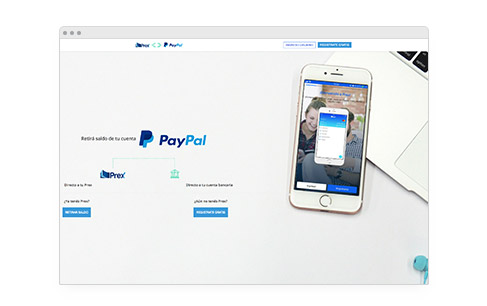 Withdraw your funds with Prex to your local account - PayPal UY