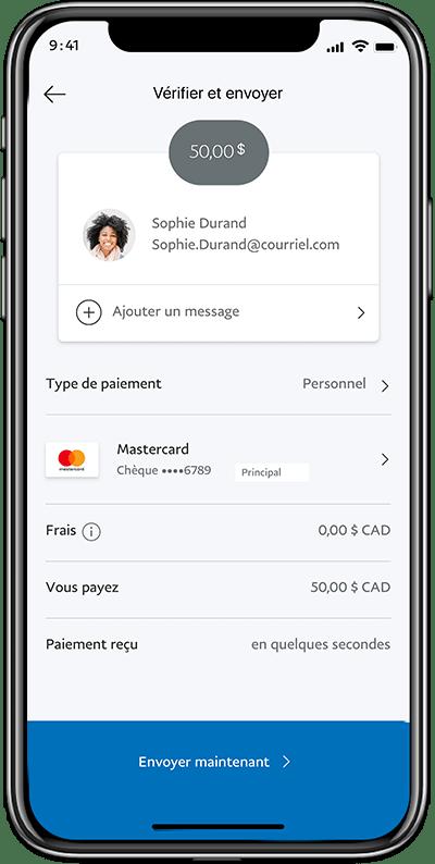 Envoyez de l'argent avec juste une adresse de courriel ou un numéro de téléphone