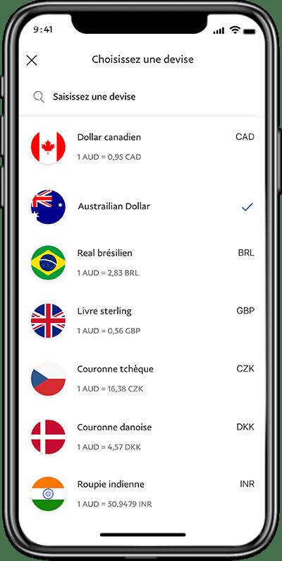 Virez des fonds rapidement dans le monde entier