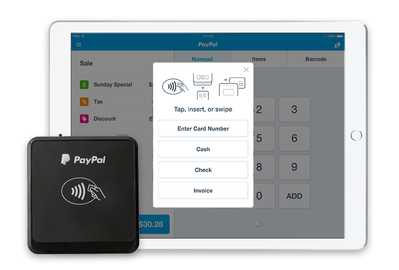 paypal chip and tap reader guide - Paypal Credit Card Swiper