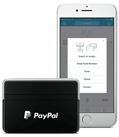 paypal chip and swipe reader guide - Paypal Credit Card Swiper