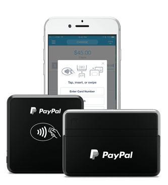 Paypal here credit card readers mobile point of sale app or sign up by phone 1 855 787 4340 reheart Images