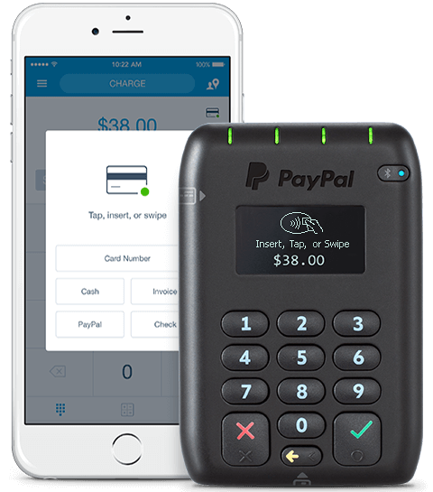 Paypal here credit card reader point of sale and mobile for Portable credit card reader for small business