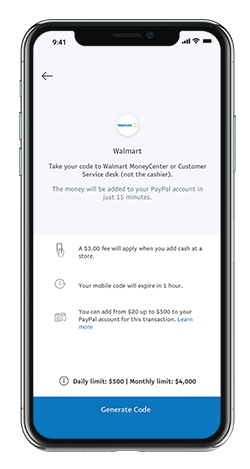 Walmart and PayPal Cash In & Cash Out | PayPal US