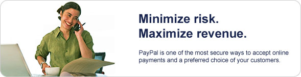 Minimize Risk. Maximize Revenue. PayPal is one of the most secure ways to accept online payments and a preferred choice of your customers.