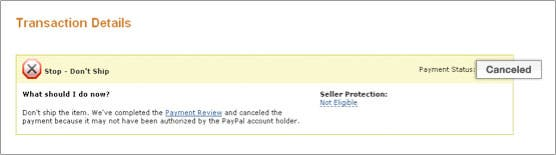 Payment Review - PayPal