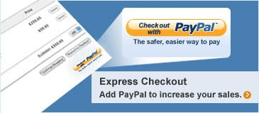Express Checkout: Add PayPal to increase your sales.