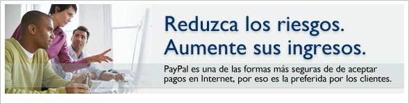 Minimizar el riesgo. Maximizar los ingresos. PayPal es una de las formas más seguras de aceptar pagos en Internet y es la opción preferida de los clientes.