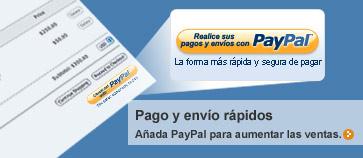 Pagos exprés: Incorpore PayPal para aumentar las ventas.