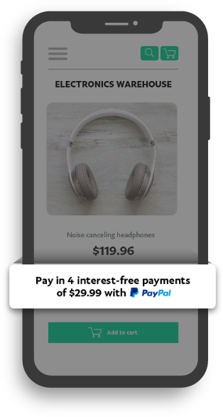 Promote PayPal Pay in 4 in a click
