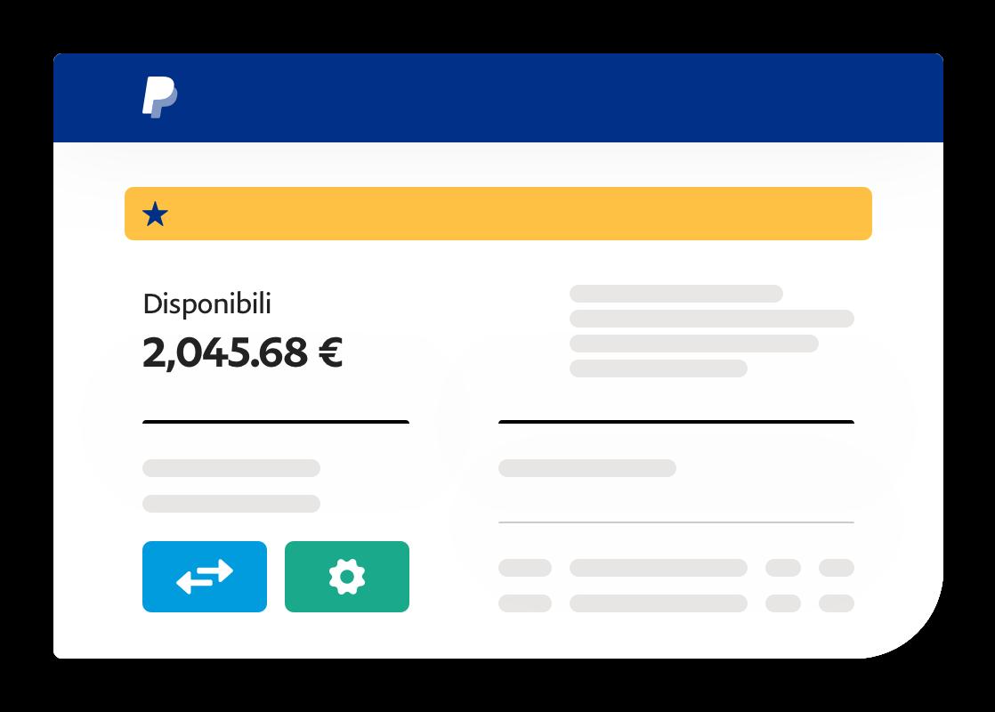 Utilizzo facile e rapido del saldo PayPal
