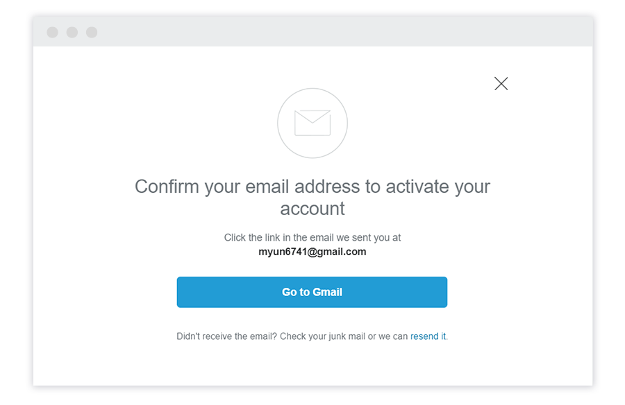 Confirm Your Email Address First Step