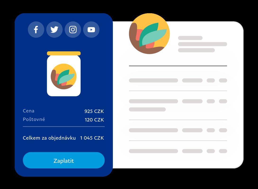 Snímek obrazovky se zadanou platbou
