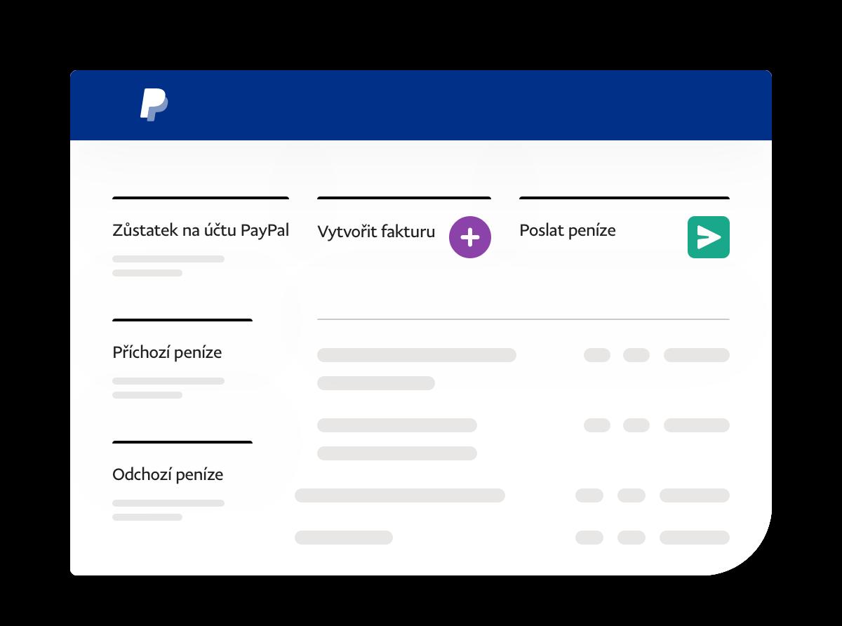 Snímek obrazovky aplikace sodkazy pro zůstatek, příchozí aodchozí peníze aprovádění akcí