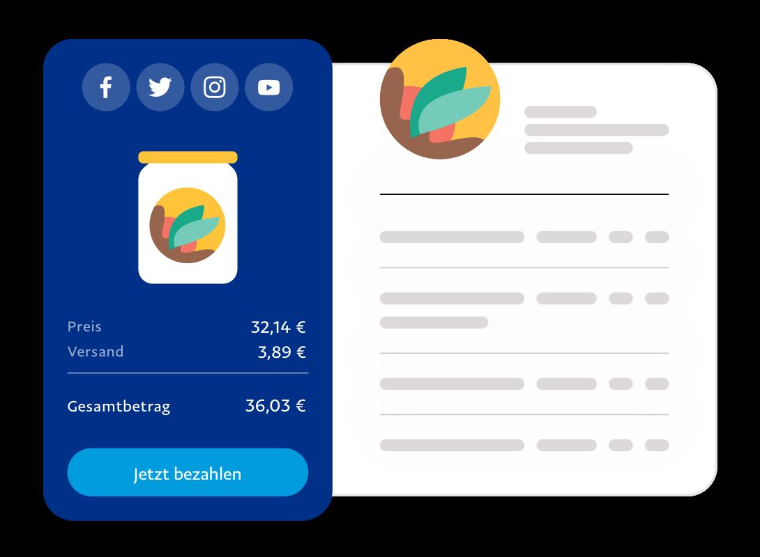 Screenshot von Zahlungsmasken.