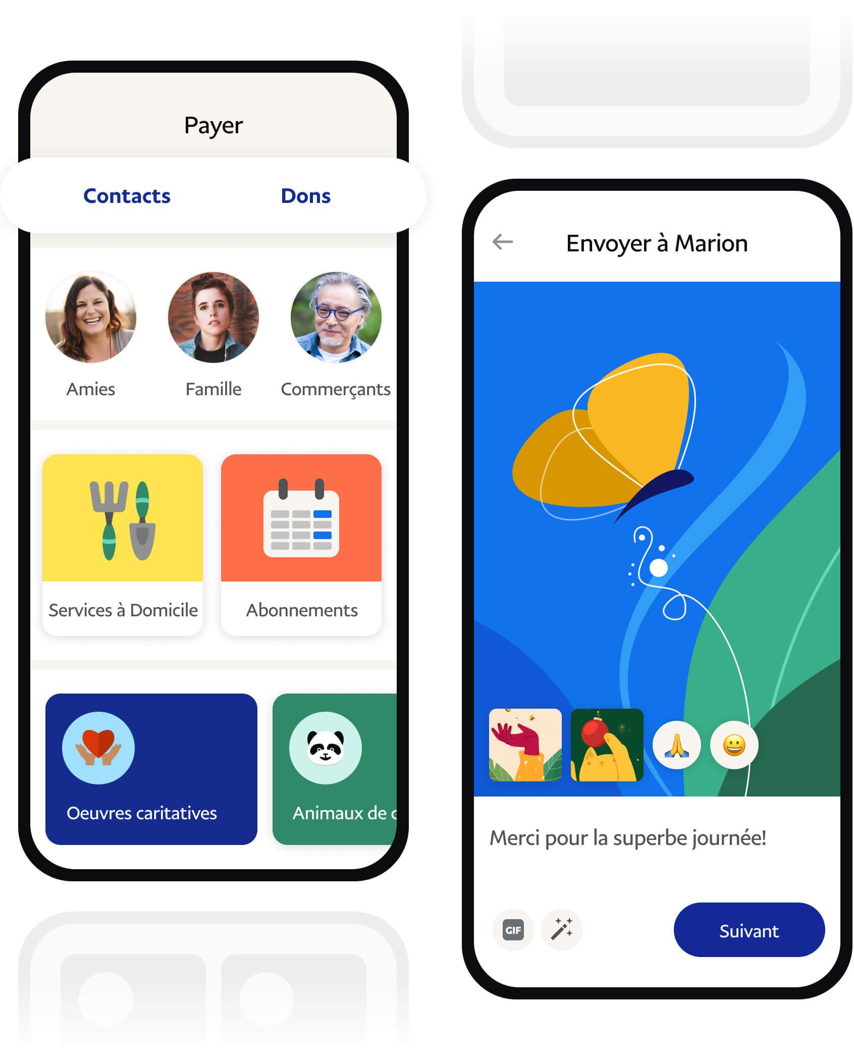 Application PayPal sur votre téléphone